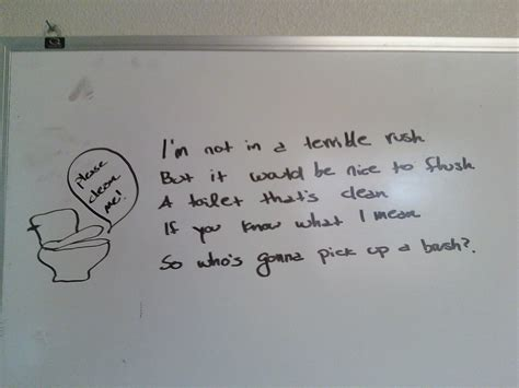 Poems About Bathrooms by Messages To Keep Bathroom Clean Just B Cause