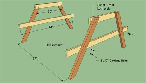 build  wooden picnic table howtospecialist