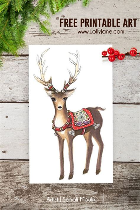 christmas reindeer art printables  mom