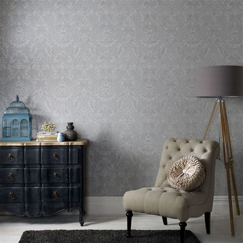grey removable wallpaper graham brown province gray removable wallpaper 31 036