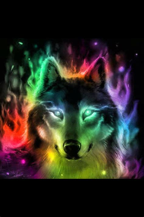 cool painting for free colorful wolf wolf wolf animal and drawings