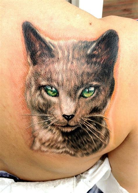 cat eye tattoo green eye cat ink