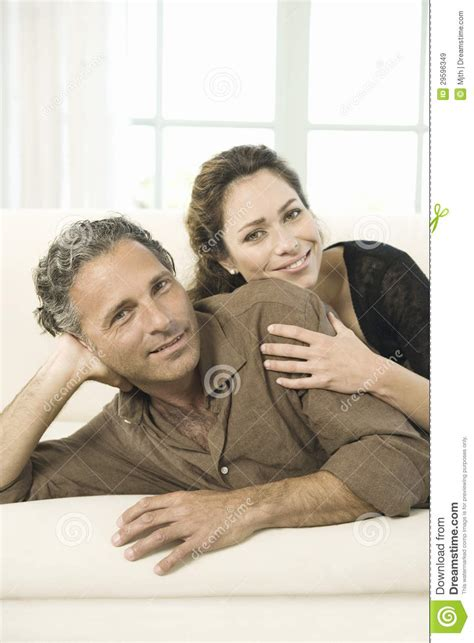mature couch mature couple on sofa royalty free stock images image