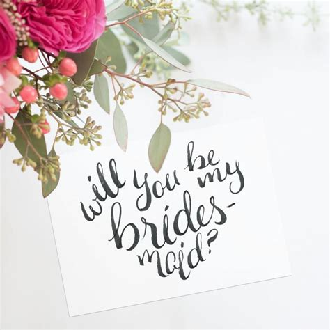 Handmade Will You Be My Bridesmaid Cards - will you be my bridesmaid will you be my of honor