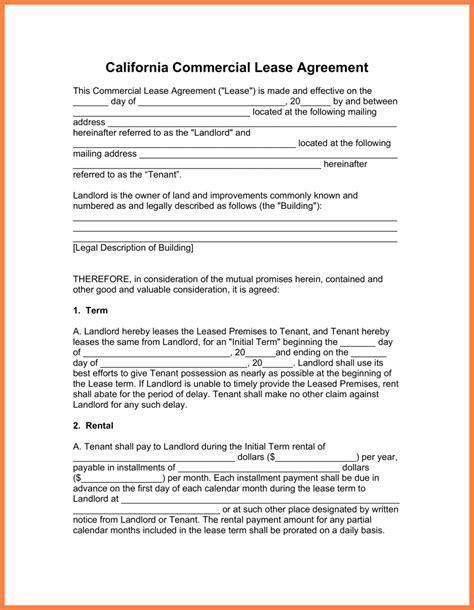 standard commercial lease agreement template 8 standard commercial lease agreement template purchase