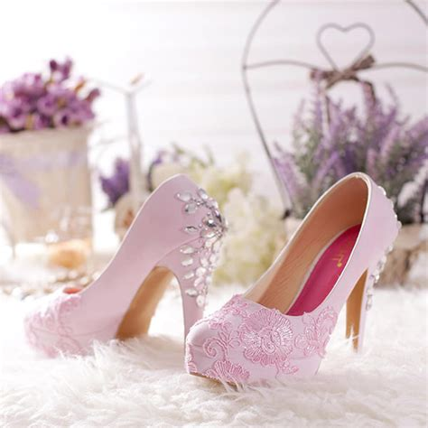 Sepatu Heels Bayi Wedding Pink sepatu platform diamante baby pink