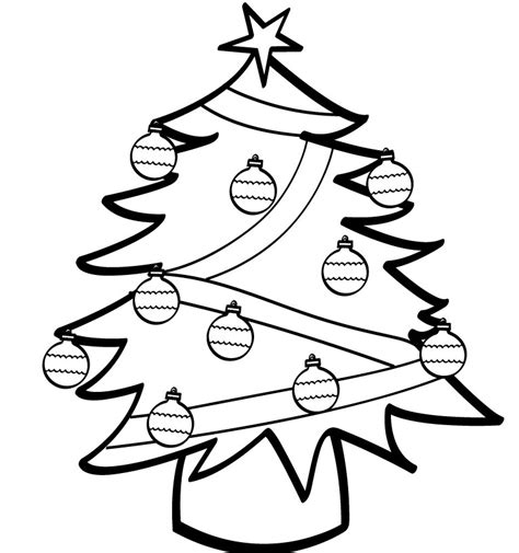 basic christmas tree coloring page simple christmas images cliparts co
