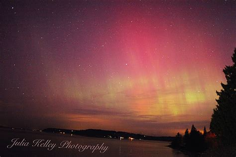 northern lights this morning related to eruption on the