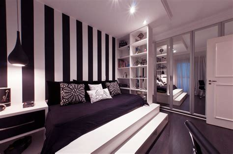 striped rooms interior color trends lavender black and white home