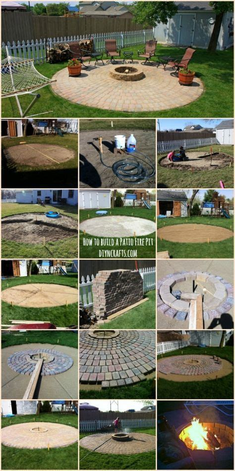 backyard building projects 17 best ideas about patio fire pits on pinterest paver