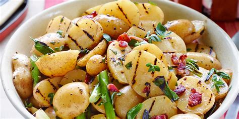 grilled potato salad with bacon vinaigrette