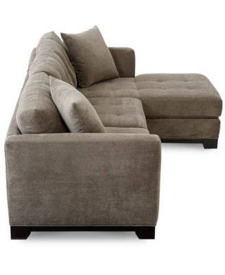 elliot fabric microfiber 2 chaise sectional sofa