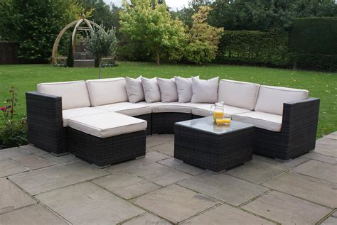 rattan outdoor garden furniture stamford corner sofa