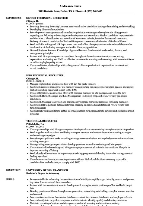 Resume Resume Exles by 18702 Recruiter Resume Exles Recruiter Resume Exle Best