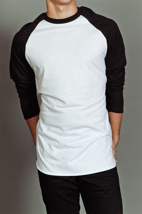 Tshirt Raglan Black us blanks s baseball raglan white black s fashion raglan