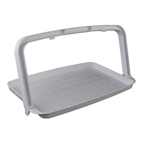 one hand tray with fold down handle low prices