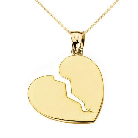 broken gold pendant necklace ebay