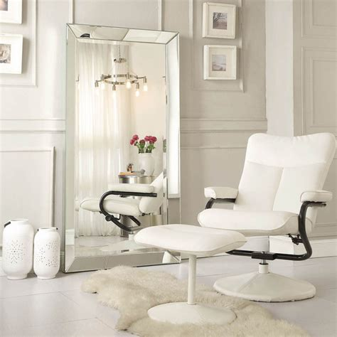 inspire q omni beveled mirrored frame rectangular floor mirror contemporary floor mirrors