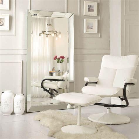 inspire q omni beveled mirrored frame rectangular floor