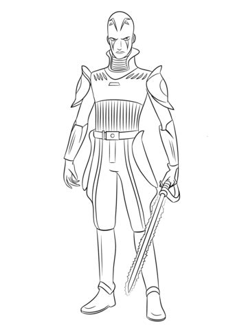 disney wars rebels coloring pages wars rebels the inquisitor coloring page free