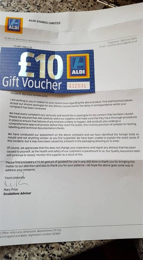 Aldi Gift Card Uk - mum disgusted to find vile object in a carton of aldi tomato juice