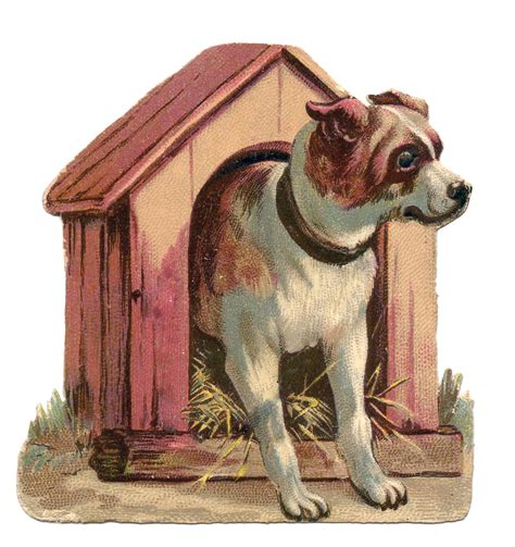 clipart dog house vintage clip art dog in dog house the graphics fairy