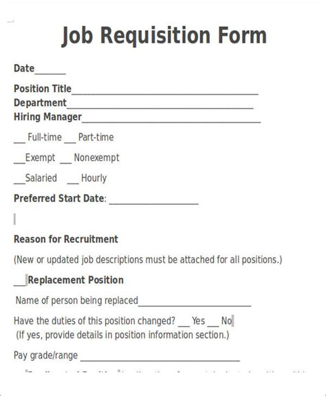 staff requisition form template 22 requisition form sles sle templates