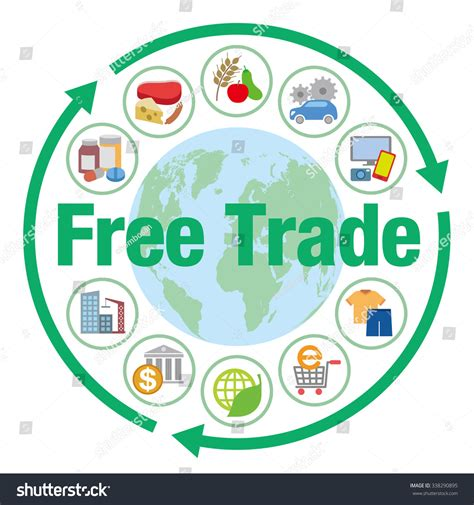 images free free trade various trading goods vector stock vector