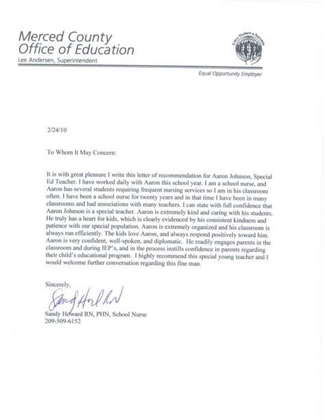 Recommendation Letter Ending Letter Of Recommendation Howard