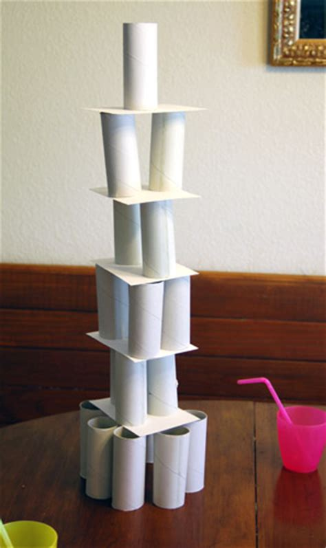 How To Make A Paper Tower - toilet paper roll architecture activity toilet paper
