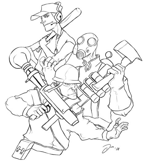 team fortress 2 free coloring pages