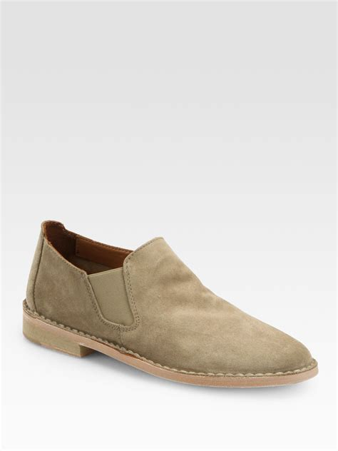 vince suede ankle boots in beige light taupe lyst