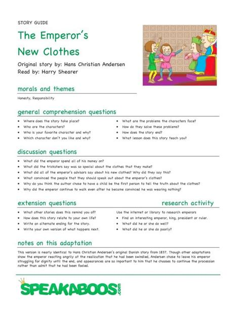 fashion design lesson plans lesson plans the emperor s new clothes speakaboos