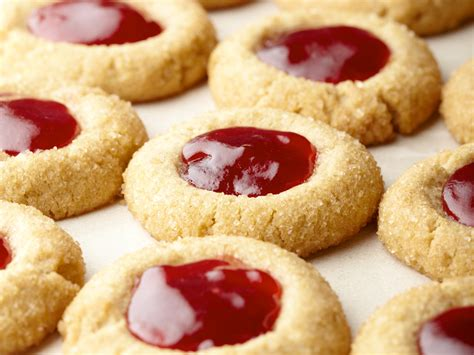 sunny s holiday pb and j thumbprints recipe sunny anderson food network
