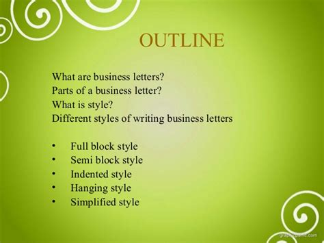 Different Business Letter Writing business letter and different styles