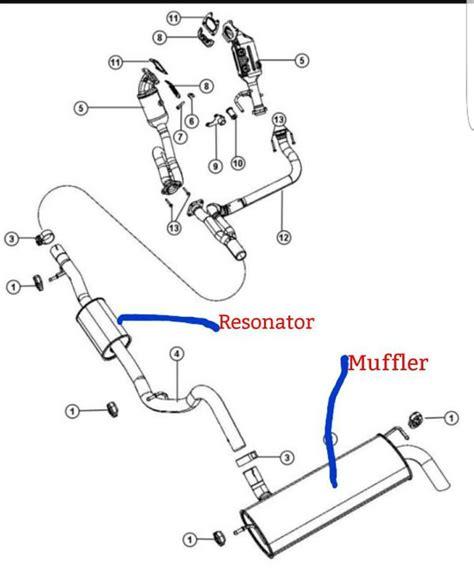 jeep stock exhaust oem jeep wrangler jk exhaust resonator muffler auto
