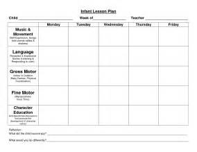 Toddler Lesson Plan Templates Blank by Infant Blank Lesson Plan Sheets Provider Sle Lesson