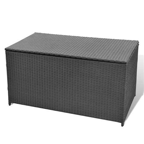 garten aufbewahrungsbox garten aufbewahrungsbox wasserdicht poly rattan schwarz