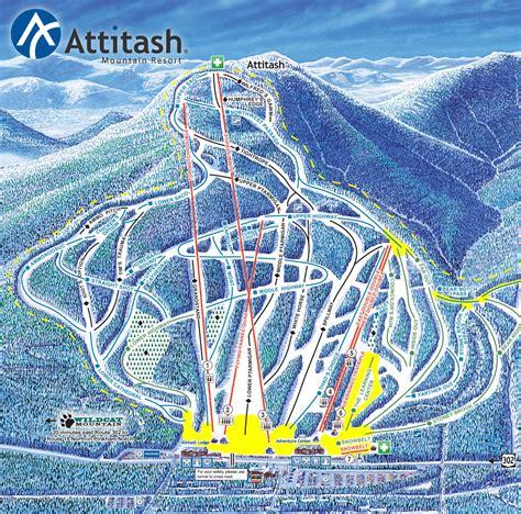 trail maps attitash mountain ski area
