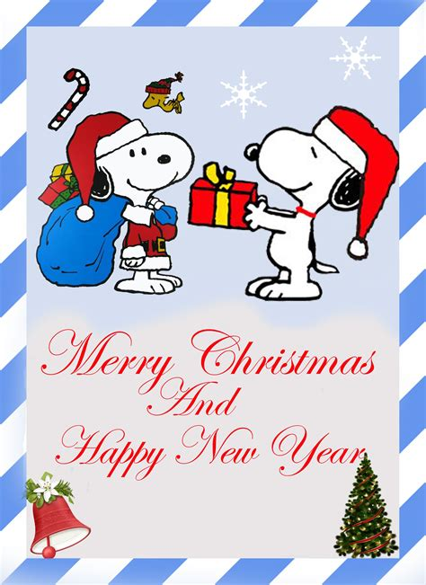 merry christmas  happy  year works snoopy christmas snoopy peanuts christmas