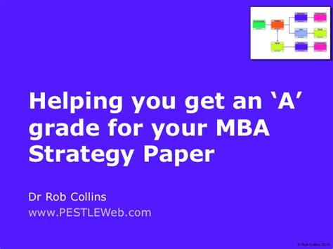 Mba Strategy by Get An A For Your Mba Strategy Paper