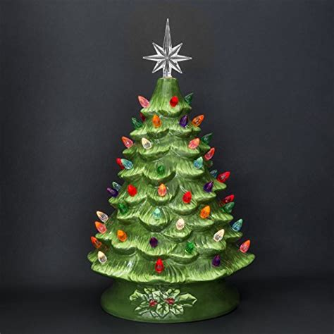 prelit ceramic tabletop tree w multicolored lights best choice products prelit ceramic tabletop