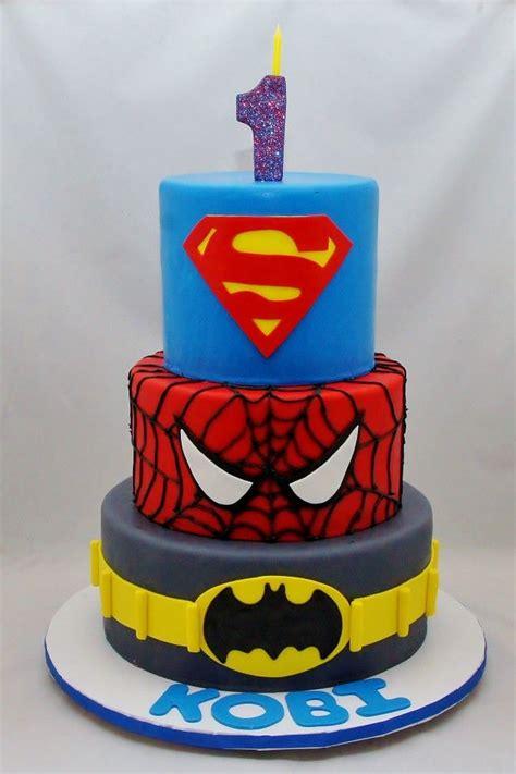 batman spiderman superman cake superman cakes superhero