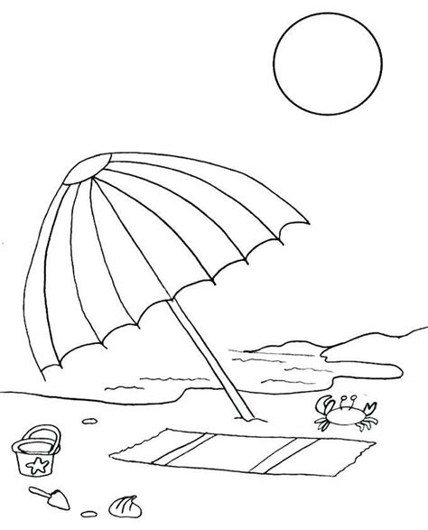 umbrella coloring pages summer coloring pages beach