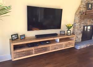 Floating Media Cabinets Floating Notched Leg Media Console Tv Stand