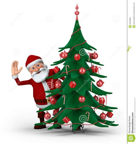 img of santa claus and x mas tree santa tree stock illustration image 22033863