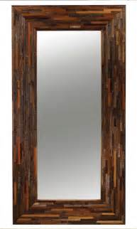berlin mix reclaimed wood floor mirror rustic floor mirrors new york by zin home
