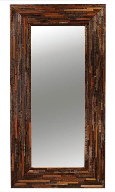 berlin mix reclaimed wood floor mirror rustic floor