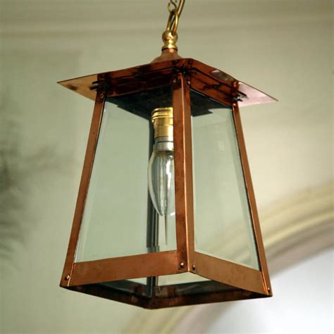 Handmade Copper Lanterns - handmade copper pyramid ceiling pendant lantern 12