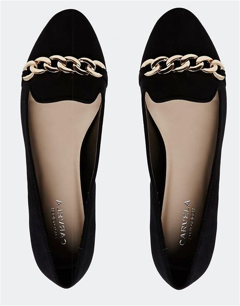 carvela flat shoes carvela carvela suedette flat shoes with chain